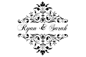 Monogram, Wedding Monogram, Monogram design, Monogram display, gobo, wedding gobo, gobo design, wedding gobo design